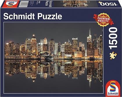 New York Skyline bei Nacht - 1500 Teile Puzzle