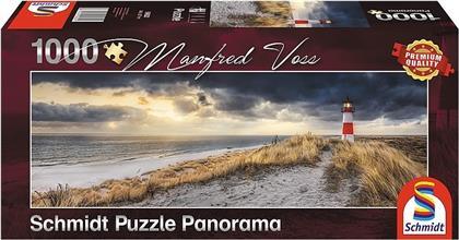 Leuchtturm Sylt - 1000 Teile Panorama Puzzle