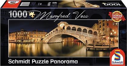 Rialto Brücke - 1000 Teile Panorama Puzzle