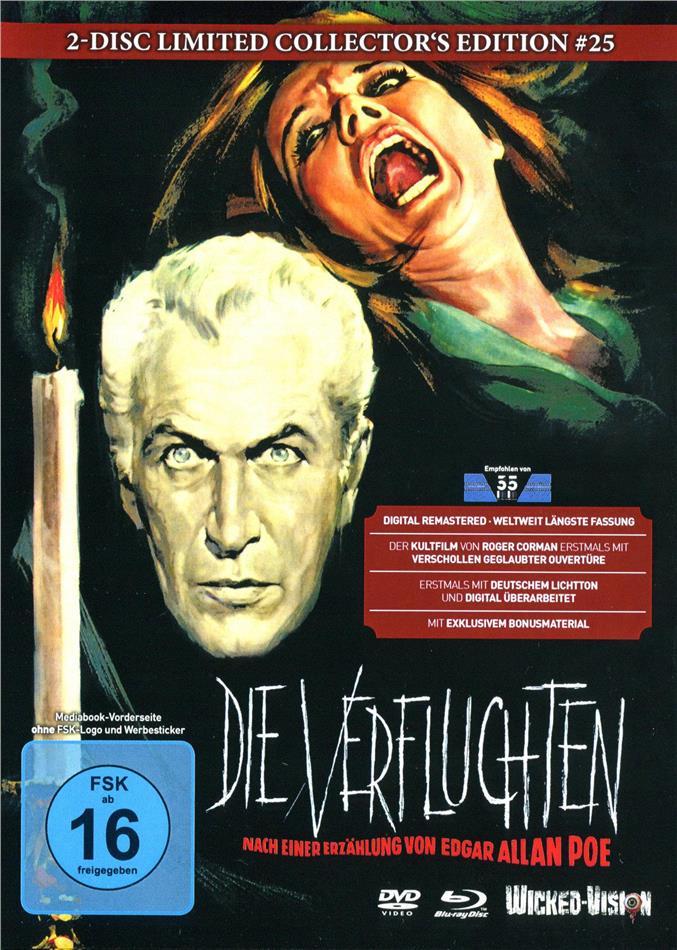Die Verfluchten - Der Untergang des Hauses Usher (1960) (Cover D, Collector's Edition, Limited Edition, Mediabook, Blu-ray + DVD)