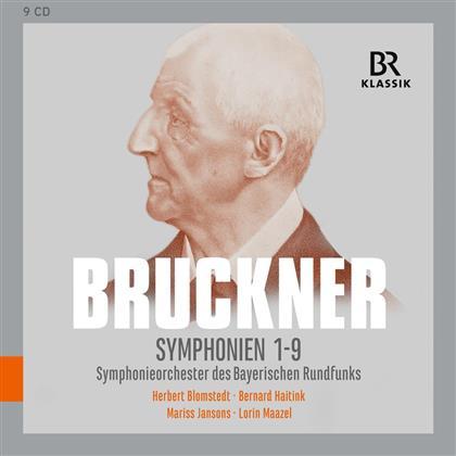 Anton Bruckner (1824-1896), Mariss Jansons, Bernard Haitink & Lorin Maazel - Symphonien Nr. 1-9 (9 CDs)