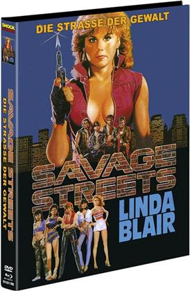 Savage Streets - Die Strasse der Gewalt (1984) (Cover B, Collector's Edition, Limited Edition, Mediabook, Remastered, Blu-ray + DVD)