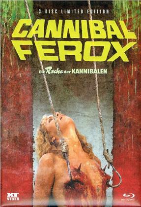 Cannibal Ferox (1981) (Wattiert, Limited Edition, Mediabook, 2 Blu-rays + DVD)