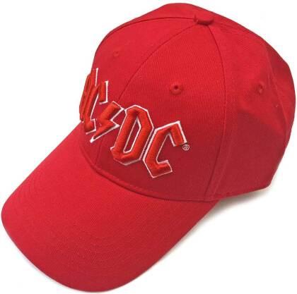AC/DC Unisex Baseball Cap - Red Logo (Red)