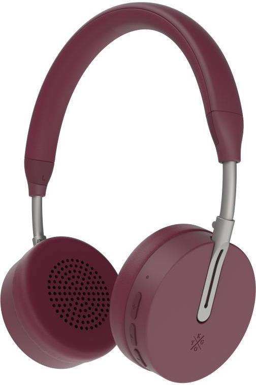 Kygo A6/500 BT OnEar Headphones - burgundy