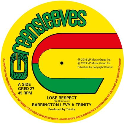 "Barrington Levy - Lose Respect (Extended Edition, 12"" Maxi)"
