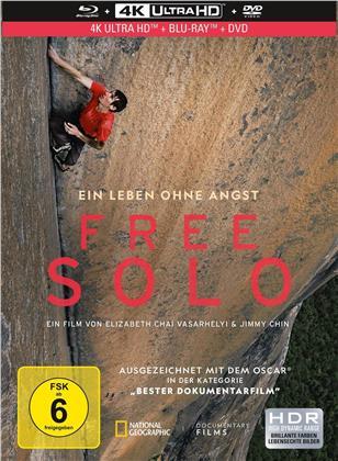 Free Solo (2019) (Mediabook, 4K Ultra HD + Blu-ray + DVD)