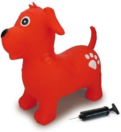 Jamara Hüpftier Hund rot mit Pumpe