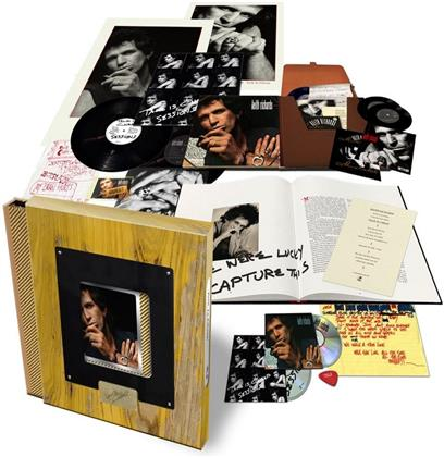 """Keith Richards - Talk Is Cheap (2019 Reissue, Limited Super Deluxe Box, Holzbox, 2 LPs + 2 7"""" Singles + 2 CDs)"""