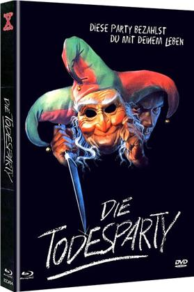 Die Todesparty (1986) (Cover B, Limited Edition, Mediabook, Uncut, Blu-ray + DVD)
