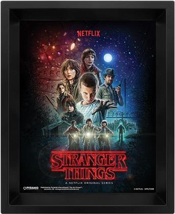 Stranger Things - One Sheet - 3D Framed Lenticular Poster