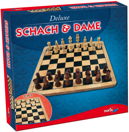 Deluxe Holz - Schach & Dame