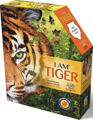 I Am Tiger - Shape Puzzle 550 Pieces