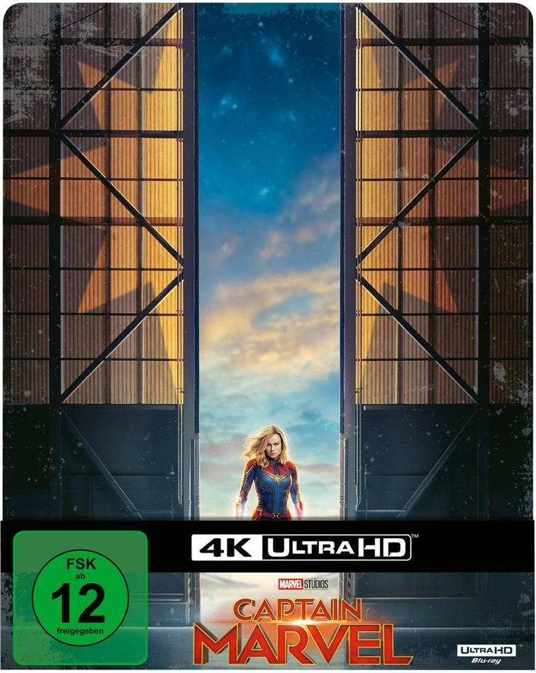 Captain Marvel (2019) (Limited Edition, Steelbook, 4K Ultra HD + Blu-ray)