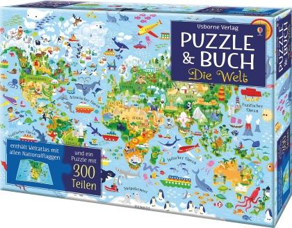 Puzzle und Buch - Die Welt (Puzzle)