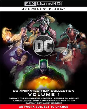 DC Animated Film Collection - Volume 1 (5 4K Ultra HDs + 5 Blu-rays)