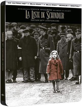 La liste de Schindler (1993) (25th Anniversary Edition, Limited Edition, Steelbook, 4K Ultra HD + 2 Blu-rays)