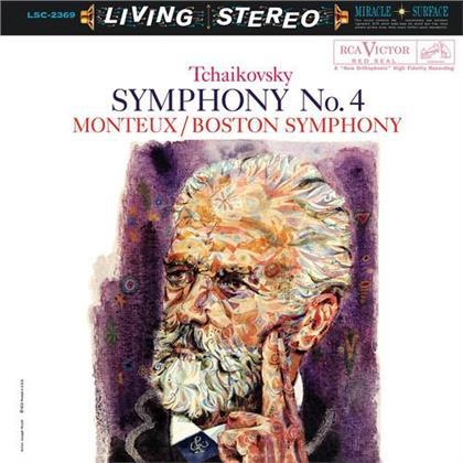 Pierre Monteux, Boston Symphony & Peter Iljitsch Tschaikowsky (1840-1893) - Symphony No. 4 (LP)