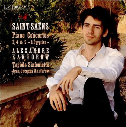 Camille Saint-Saëns (1835-1921), Jean-Jacques Kantorow, Alexandre Kantorow & Tapiola Sinfonietta - Piano Concertos 3, 4 & 5 (SACD)