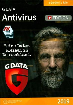 GData AntiVirus 2019 Swiss Edition (3 PC)