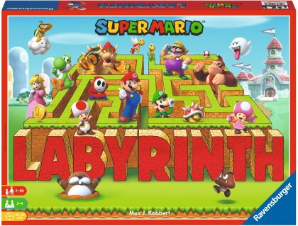 Labyrinth Super Mario - ab 7 Jahren, 2-4 Spieler,