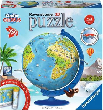 Kindererde deutsch - 180 Teile 3D Puzzle + Gratis Poster