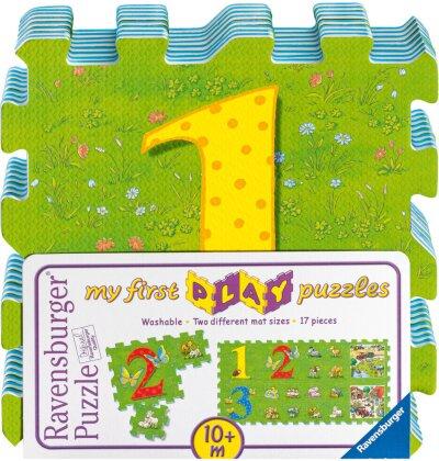 Bauernhoftiere und erstes Zählen - Puzzle