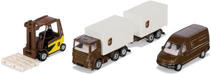 UPS Logistik Set - Siku Super, 3 Fahrzeuge,