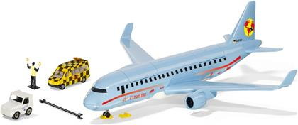 Verkehrsflugzeug mit Zubehör - Siku World, 395x385x117 mm,