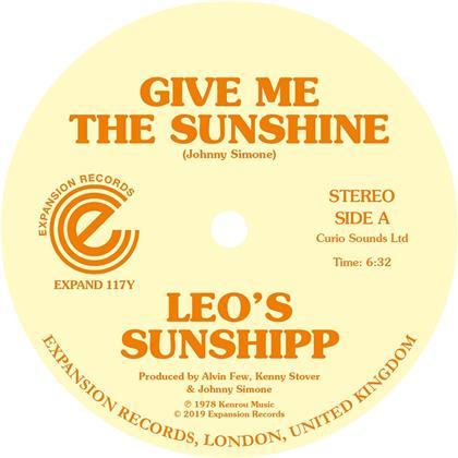 """Leo's Sunshipp - Give Me The Sunshine / I'm Back For More (Yellow Vinyl, 12"""" Maxi)"""