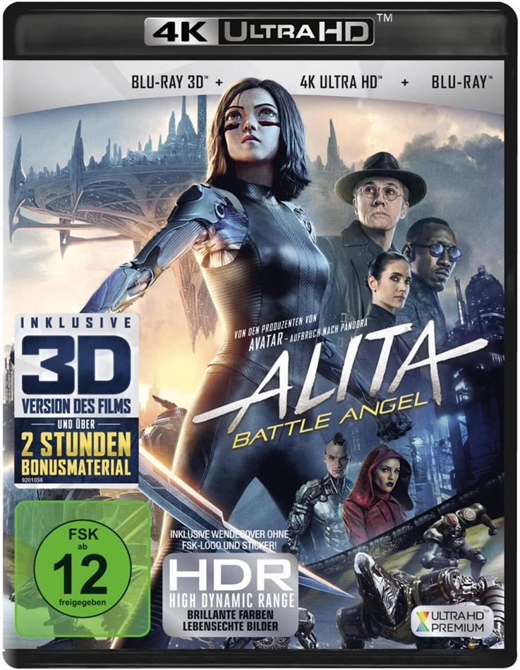 Alita: Battle Angel (2018) (4K Ultra HD + Blu-ray 3D + Blu-ray)