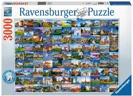 99 Beautiful Places of Europe - 3000 Teile Puzzle