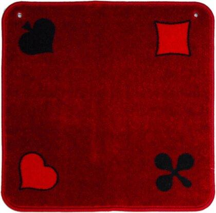 Jassteppich rot Piquet - 60 x 60 cm