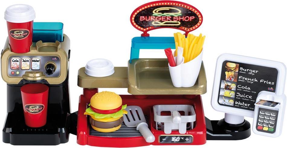 Burger Shop - mit Zubehör, 52x25x15 cm,