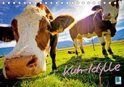 Kuh-Idylle (Tischkalender 2020 DIN A5 quer)