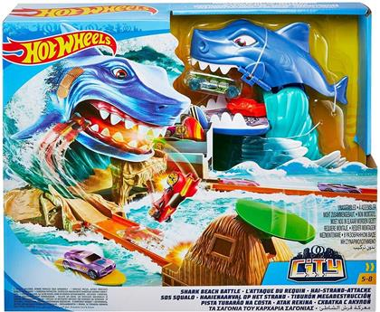 Hot Wheels - City: Shark Beach Battle Play Set