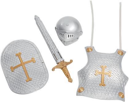 Ritter Set, 4-teilig - Schwert, Helm, Schild,