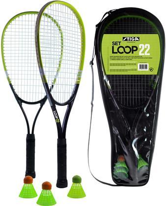 Speed Badminton Loop 22 - 2 Schläger 57 cm, 3 Shuttles