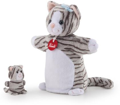Handpuppe & Baby Katze