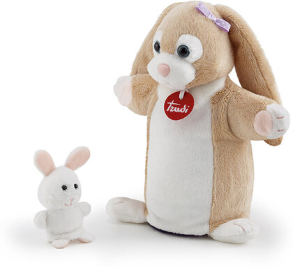 Handpuppe & Baby Hase