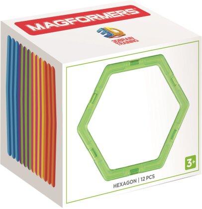 Magformers Hexagon 12 Stk. - Ergänzungsset Sechseck,