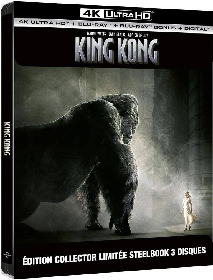 King Kong (2005) (Limited Collector's Edition, Steelbook, 4K Ultra HD + 2 Blu-rays)