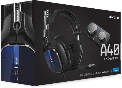 Astro Gaming A40 TR Headset + MixAmp Pro, Schwarz-Blau 2019