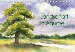 Landschaft in Aquarell (Tischkalender 2020 DIN A5 quer)