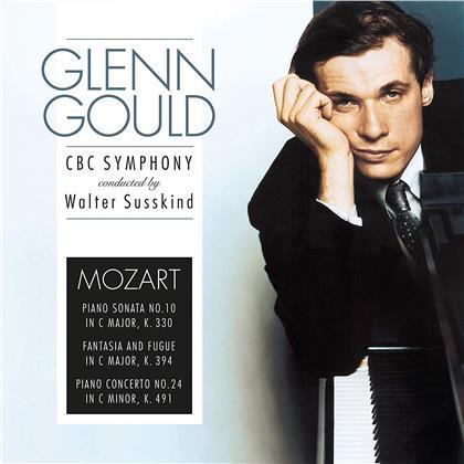 Wolfgang Amadeus Mozart (1756-1791), Walter Susskind & Glenn Gould (1932-1982) - Piano Sonata / Fantasia & Fugue / Piano Concerto No. 24 (Vinyl Passion, LP)