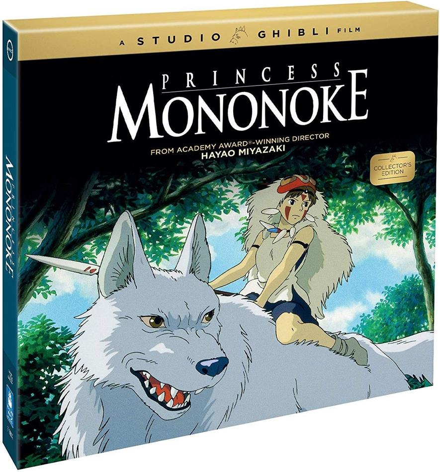Princess Mononoke (1997) (Collector's Edition, Limited Edition, Blu-ray + CD + Buch)