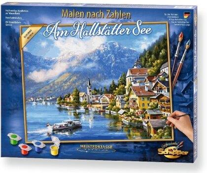 Am Hallstätter See - Spezialkarton mit Leinenstruktur, Bildgröße: 50 x 40 cm, Acrylfarben, Pinsel. Ohne Rahmen!