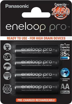 Batterie Eneloop Pro 4xAA - Pack, 2500 mAh, Panasonic