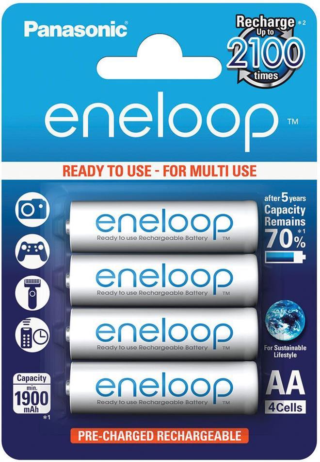 Batterie Eneloop 4xAA - Pack, 1900 mAh, Panasonic
