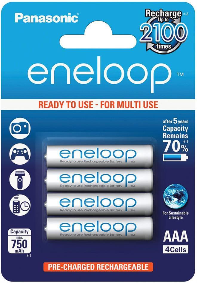 Batterie Eneloop 4xAAA - Pack, 750 mAh, Panasonic